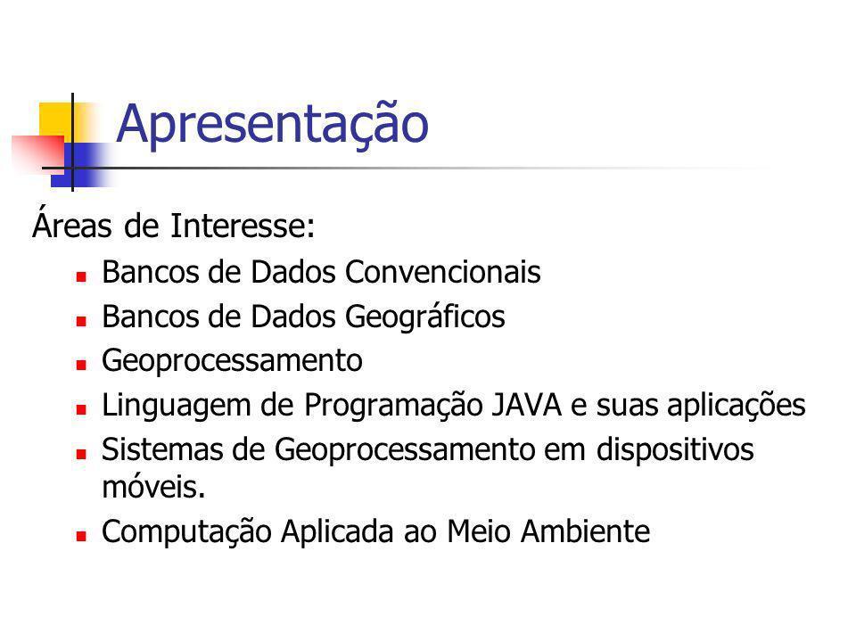 Apresentação Homepage: http://www2.ufersa.edu.br/portal/professor/angel E-mails: angelica@ufersa.edu.br angelicafcastro@gmail.com