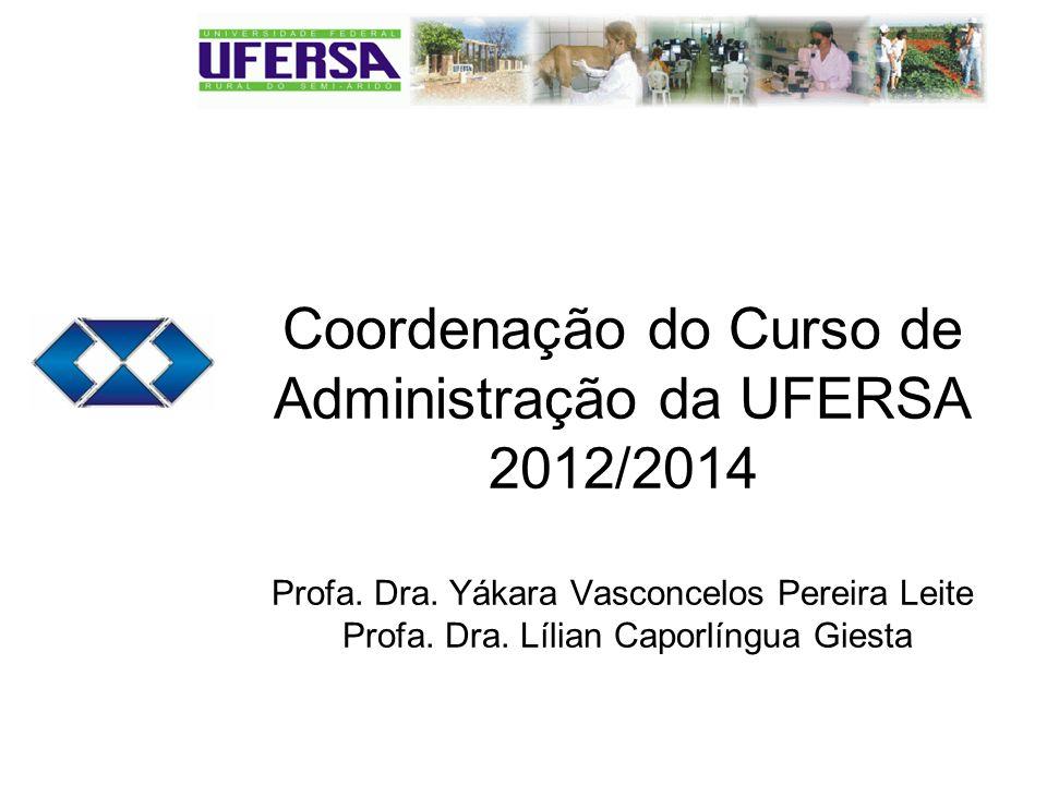 Coordenação do Curso de Administração da UFERSA 2012/2014 Profa.