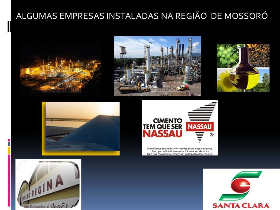 ALGUMAS EMPRESAS INSTALADAS NA REGIÃO DE MOSSORÓ