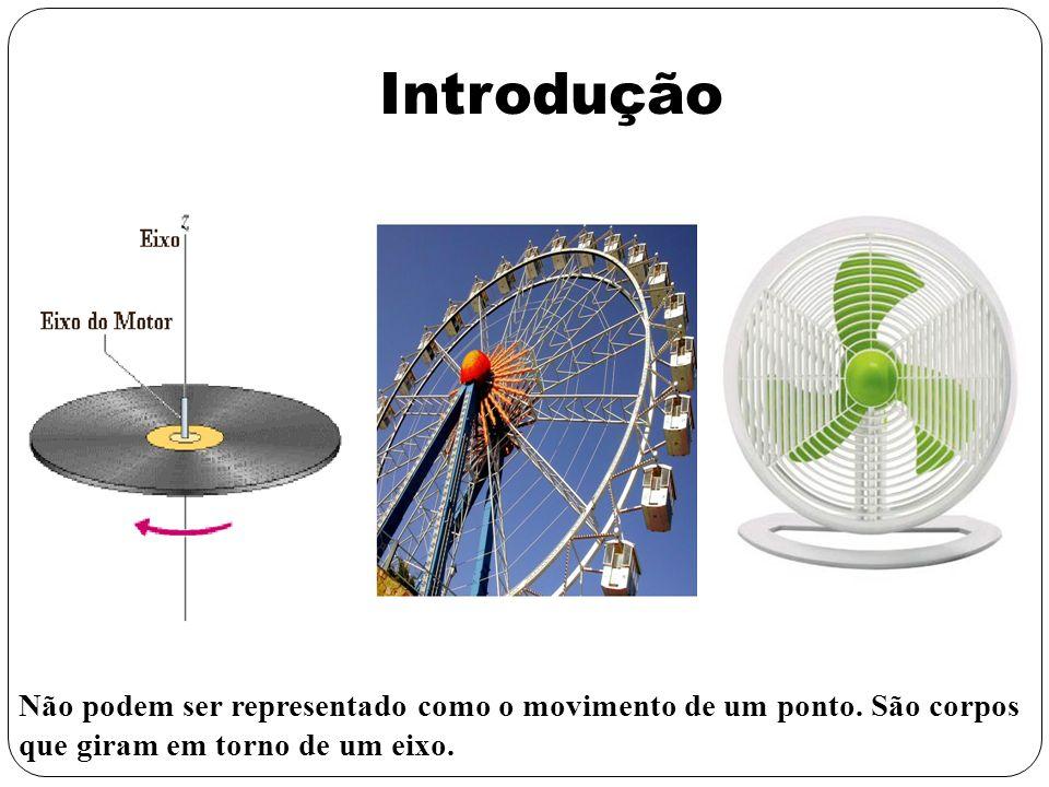Introdução Não podem ser representado como o movimento de um ponto. São corpos que giram em torno de um eixo.