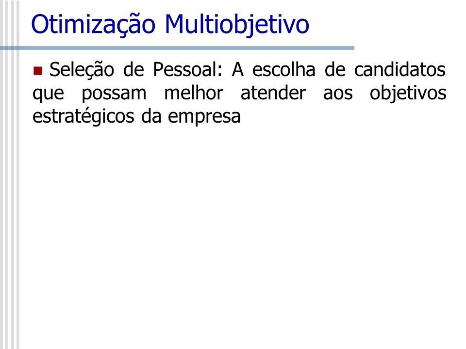 Otimização Multiobjetivo Seleção de Pessoal: A escolha de candidatos que possam melhor atender aos objetivos estratégicos da empresa