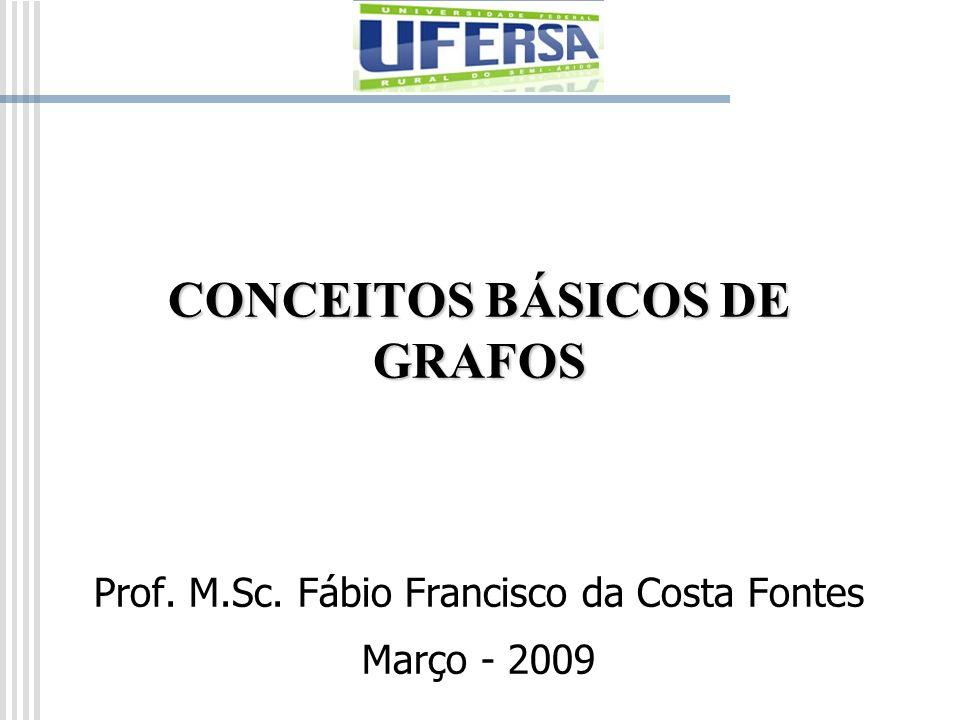 CONCEITOS BÁSICOS DE GRAFOS Prof. M.Sc. Fábio Francisco da Costa Fontes Março - 2009