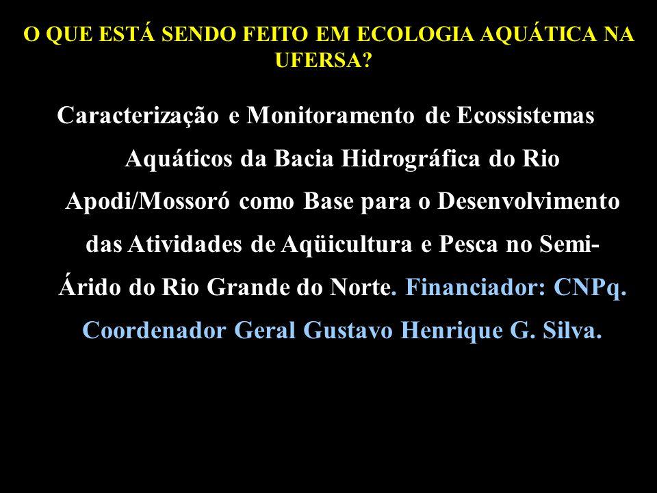 O QUE ESTÁ SENDO FEITO EM ECOLOGIA AQUÁTICA NA UFERSA?? Caracterização e Monitoramento de Ecossistemas Aquáticos da Bacia Hidrográfica do Rio Apodi/Mo