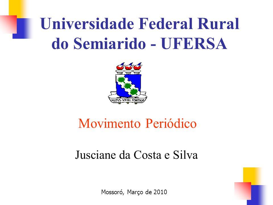 Movimento Periódico Jusciane da Costa e Silva Mossoró, Março de 2010 Universidade Federal Rural do Semiarido - UFERSA