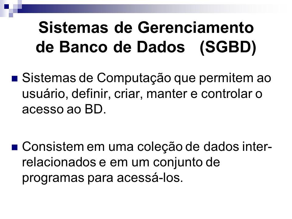 Funções do DBA Definir a estratégia de backup e recuperação: É função do DBA definir como e quando os backup do banco de dados serão efetuados e a est
