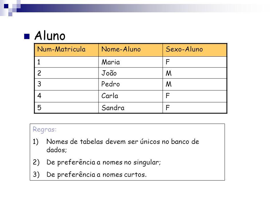 A Abordagem Relacional Um banco de dados relacional consiste em uma coleção de tabelas, cada uma designada por um nome único. Tabelas Uma tabela é uma