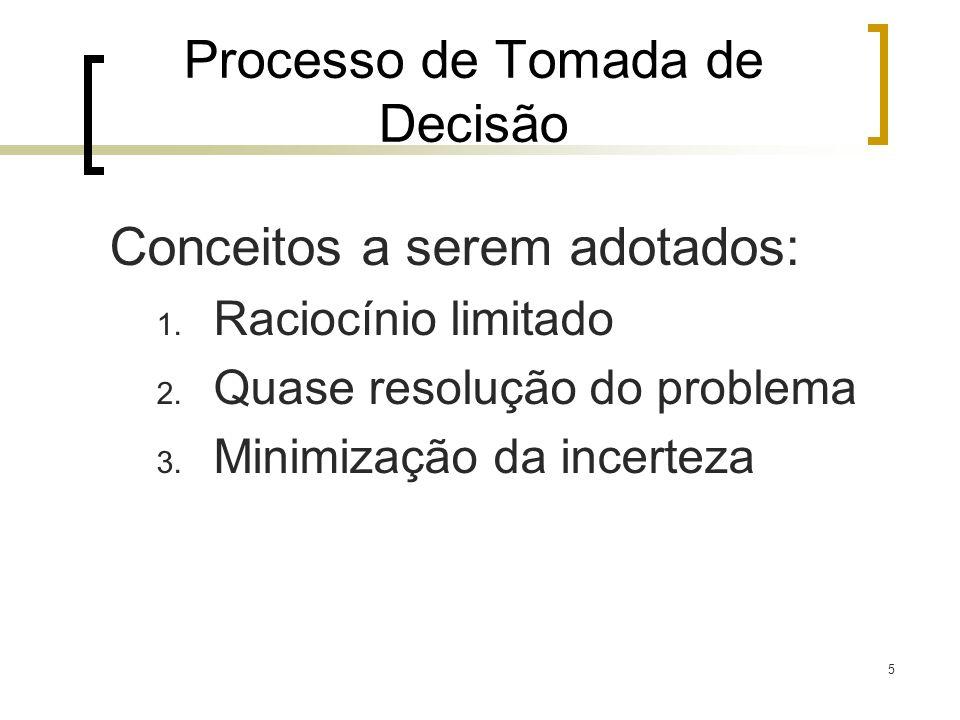 6 Processo de Tomada de Decisão Fatores que podem contribuir: 1.