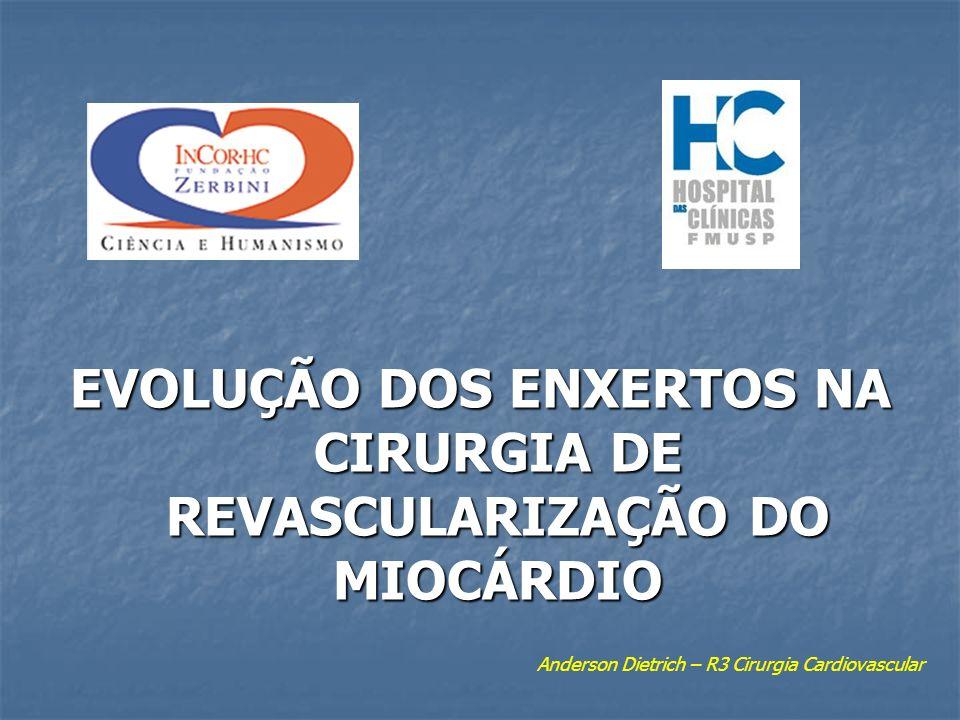 EVOLUÇÃO DOS ENXERTOS NA CIRURGIA DE REVASCULARIZAÇÃO DO MIOCÁRDIO Anderson Dietrich – R3 Cirurgia Cardiovascular
