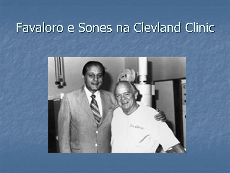 Favaloro e Sones na Clevland Clinic