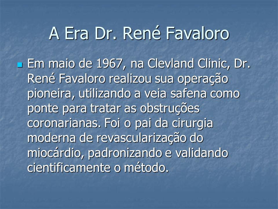 Em maio de 1967, na Clevland Clinic, Dr. René Favaloro realizou sua operação pioneira, utilizando a veia safena como ponte para tratar as obstruções c