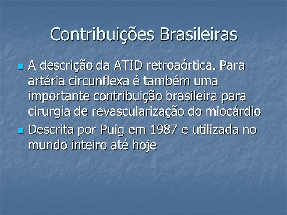 Contribuições Brasileiras A descrição da ATID retroaórtica. Para artéria circunflexa é também uma importante contribuição brasileira para cirurgia de