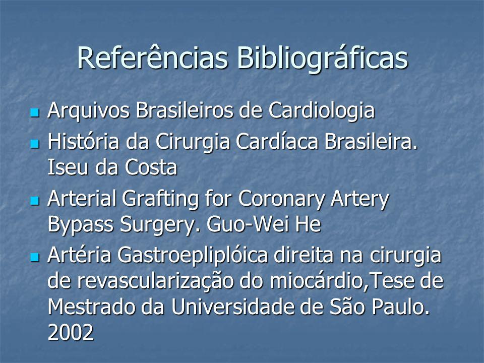 Referências Bibliográficas Arquivos Brasileiros de Cardiologia Arquivos Brasileiros de Cardiologia História da Cirurgia Cardíaca Brasileira. Iseu da C