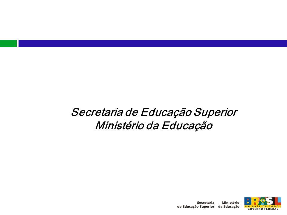 Secretaria de Educação Superior Ministério da Educação