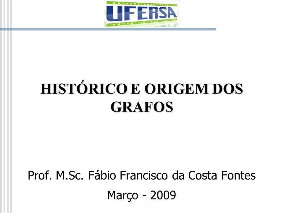 HISTÓRICO E ORIGEM DOS GRAFOS Prof. M.Sc. Fábio Francisco da Costa Fontes Março - 2009