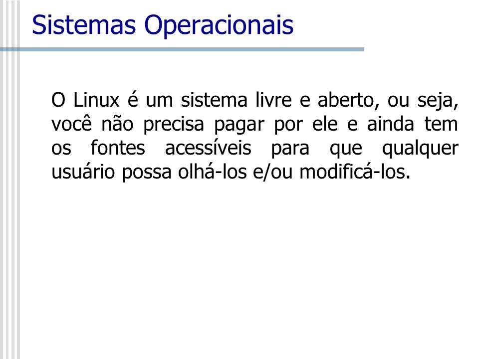 O Linux é um sistema livre e aberto, ou seja, você não precisa pagar por ele e ainda tem os fontes acessíveis para que qualquer usuário possa olhá-los