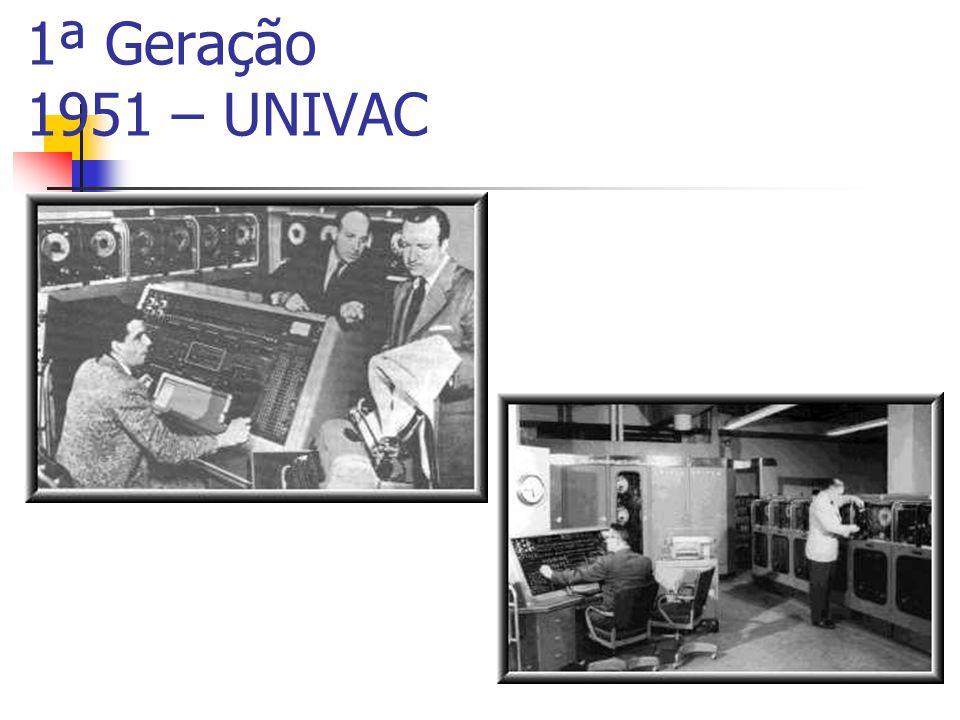 1ª Geração 1951 – UNIVAC