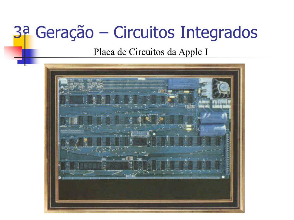 3ª Geração – Circuitos Integrados Placa de Circuitos da Apple I