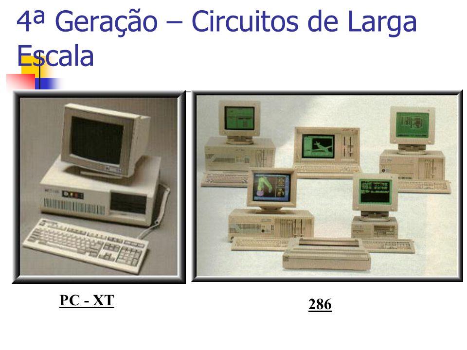 4ª Geração – Circuitos de Larga Escala PC - XT 286
