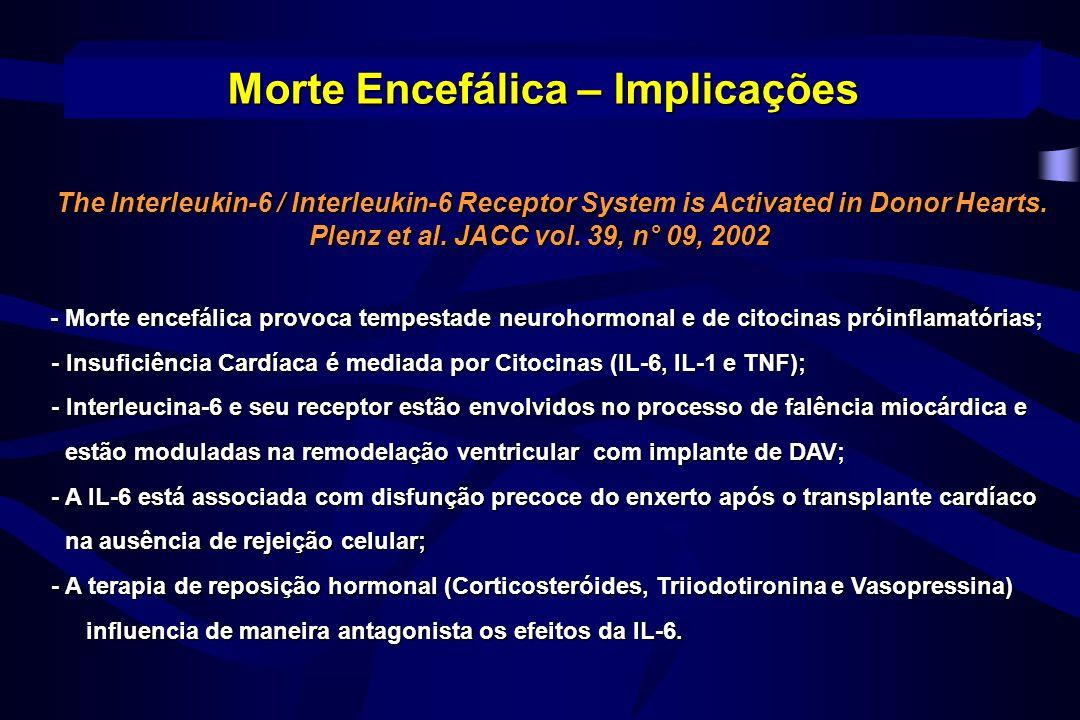 Diabetes insípido Polaciúria (> 7mL/Kg/h) Vasopressina (pitressina) 10 u em 250 ml de SG – 5 u/h Desmopressina (DDAVP) 2-6 µg a cada 6 ou 8h Morte Encefálica – Manutenção
