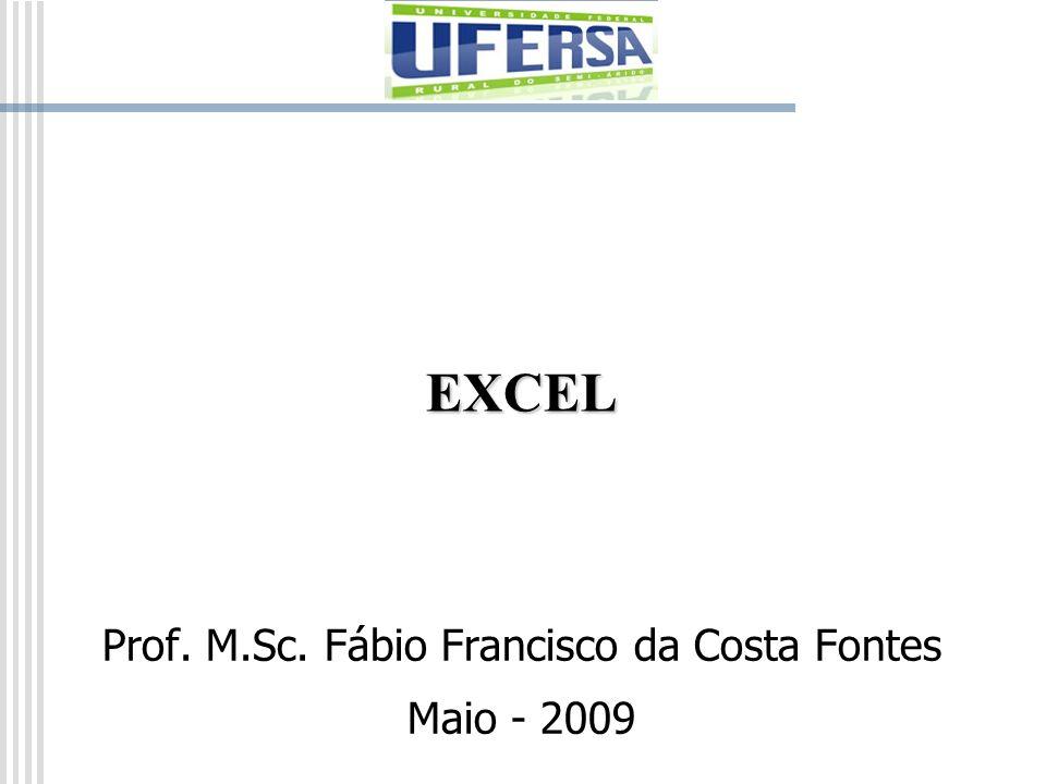 EXCEL Prof. M.Sc. Fábio Francisco da Costa Fontes Maio - 2009
