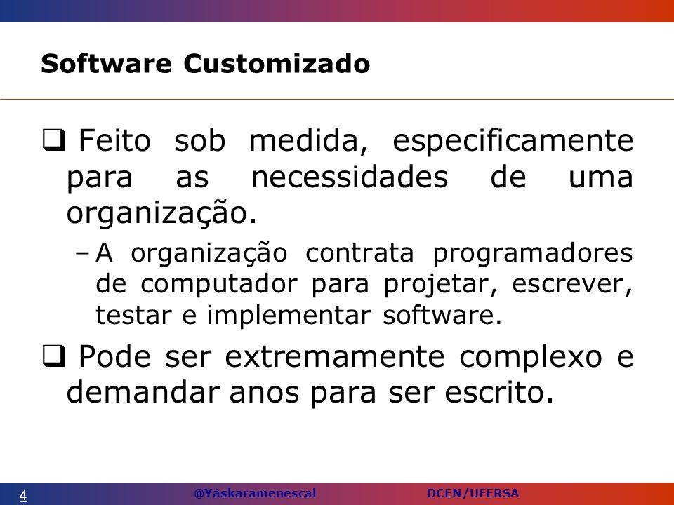 @Yáskaramenescal DCEN/UFERSA Software Customizado Feito sob medida, especificamente para as necessidades de uma organização.