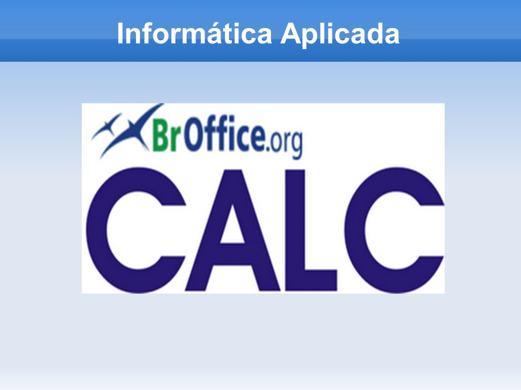 Sumário Calc Formatação de planilhas