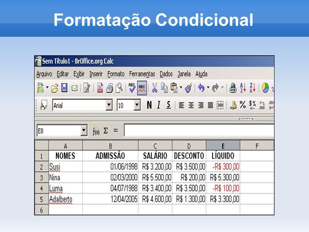 Alterando Cores Selecione a célula ou o intervalo de células e proceda conforme os passos abaixo: Selecione a opção Células no menu Formatar.