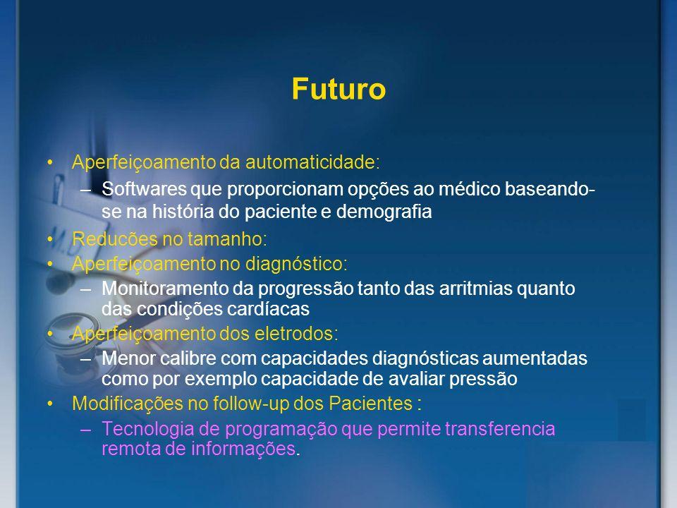 Futuro Aperfeiçoamento da automaticidade: –Softwares que proporcionam opções ao médico baseando- se na história do paciente e demografia Reducões no t