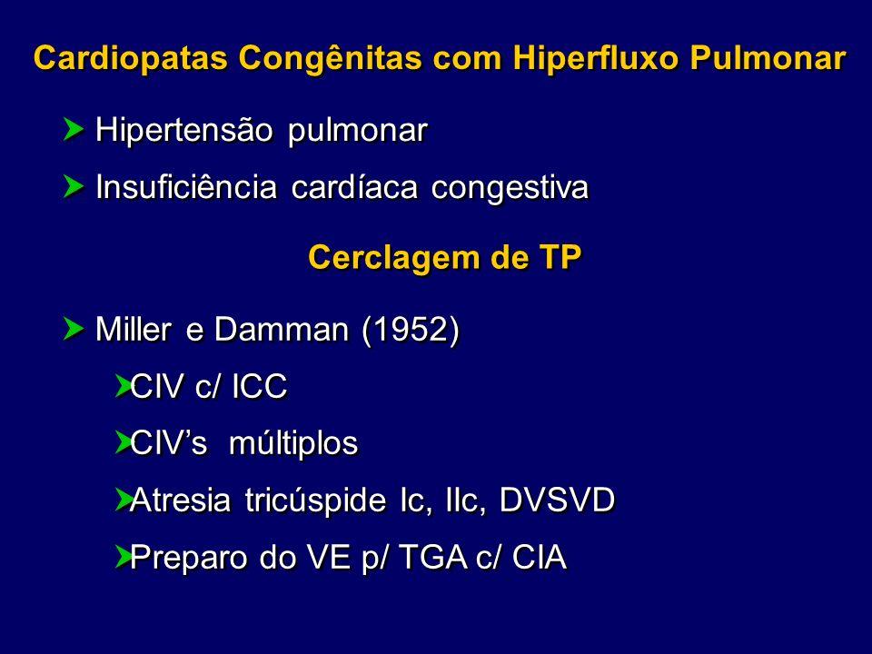 Cardiopatas Congênitas com Hiperfluxo Pulmonar Hipertensão pulmonar Insuficiência cardíaca congestiva Hipertensão pulmonar Insuficiência cardíaca cong