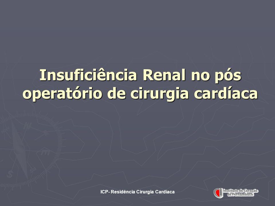 ICP- Residência Cirurgia Cardíaca Insuficiência Renal no pós operatório de cirurgia cardíaca