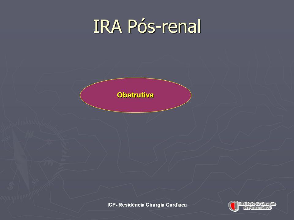 ICP- Residência Cirurgia Cardíaca IRA Pós-renal Obstrutiva
