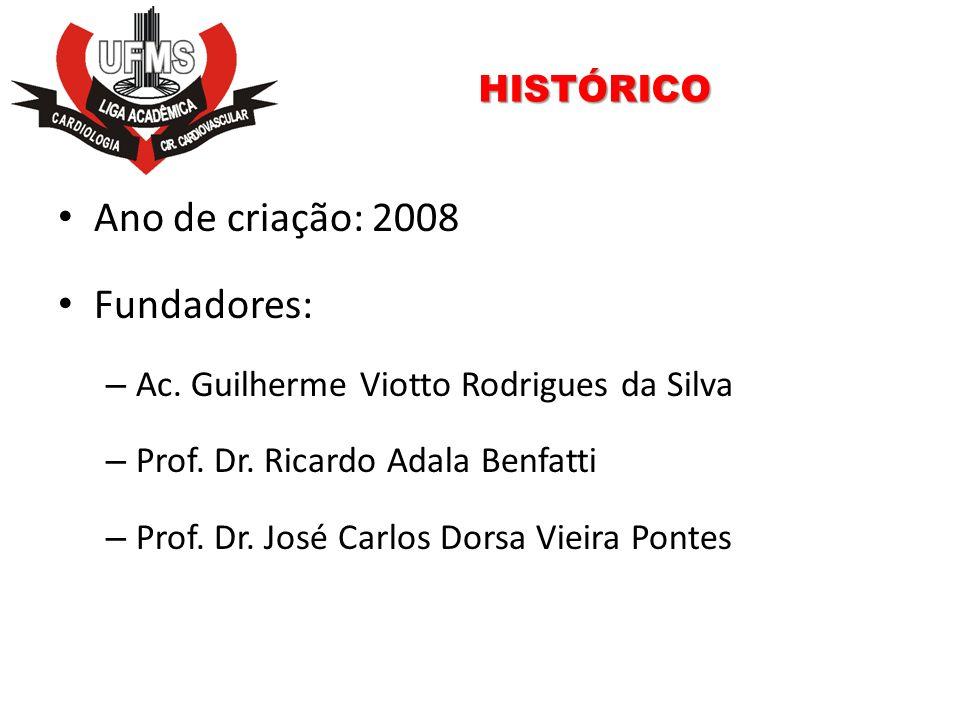 HISTÓRICO Ano de criação: 2008 Fundadores: – Ac. Guilherme Viotto Rodrigues da Silva – Prof. Dr. Ricardo Adala Benfatti – Prof. Dr. José Carlos Dorsa