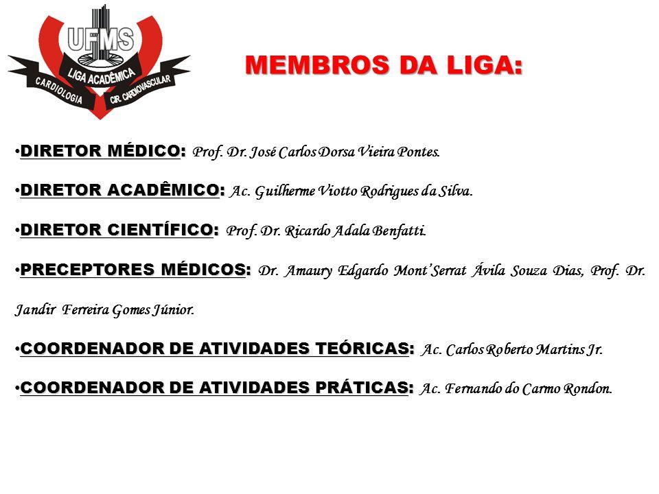 ASSOCIADOS: A Liga oferece prova de seleção anualmente para o ingresso de acadêmicos Atualmente 9 acadêmicos: Aezio de Magalhães Jr.