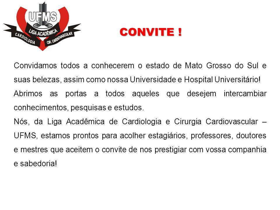 Convidamos todos a conhecerem o estado de Mato Grosso do Sul e suas belezas, assim como nossa Universidade e Hospital Universitário! Abrimos as portas