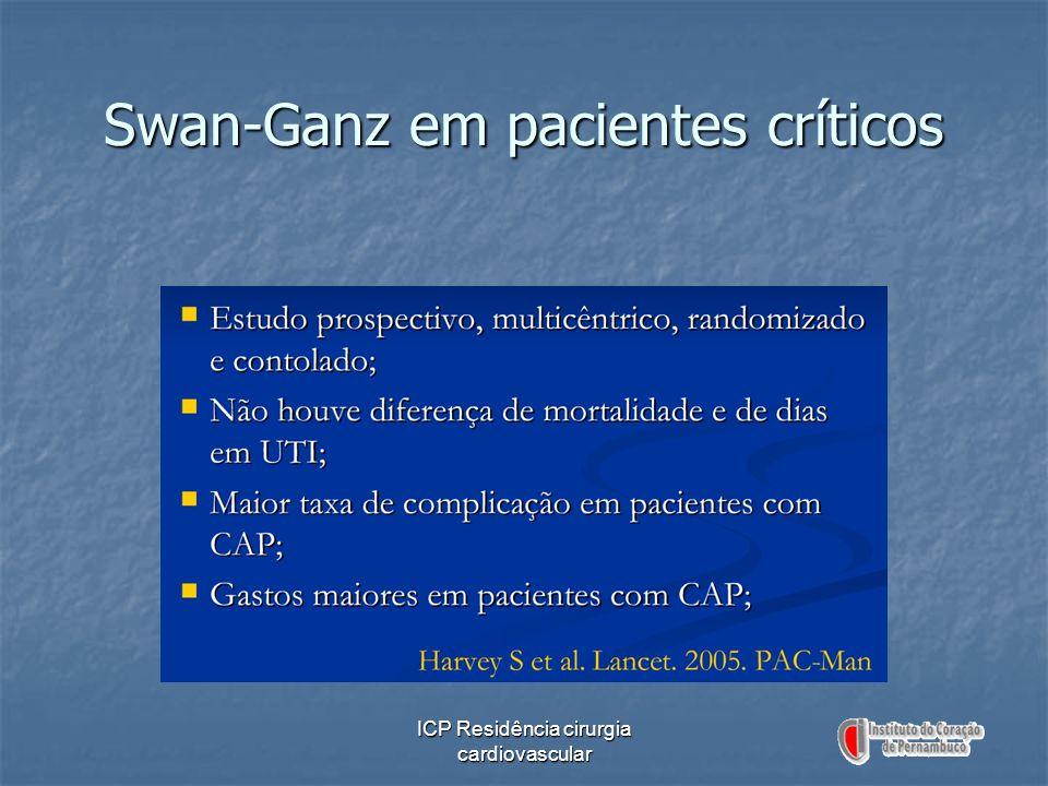ICP Residência cirurgia cardiovascular Swan-Ganz em pacientes críticos