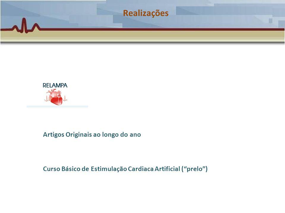 Realizações Artigos Originais ao longo do ano Curso Básico de Estimulação Cardiaca Artificial (prelo)