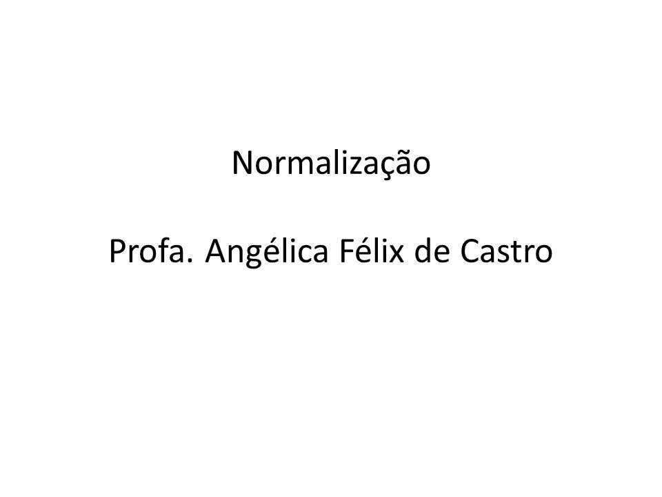 Normalização Profa. Angélica Félix de Castro