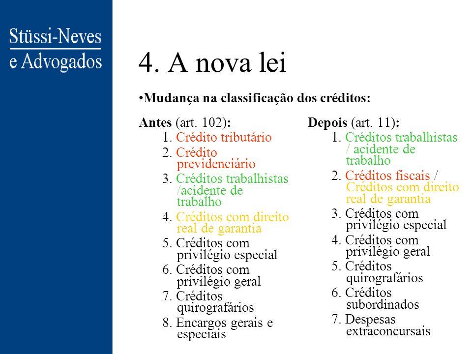 4. A nova lei Procedimentos da Nova Lei de Falências (NLF): –recuperação extrajudicial: negociação amigável com credores sem intervenção direta do jud