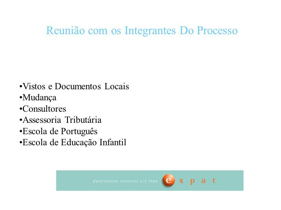 Reunião com os Integrantes Do Processo Vistos e Documentos Locais Mudança Consultores Assessoria Tributária Escola de Português Escola de Educação Inf