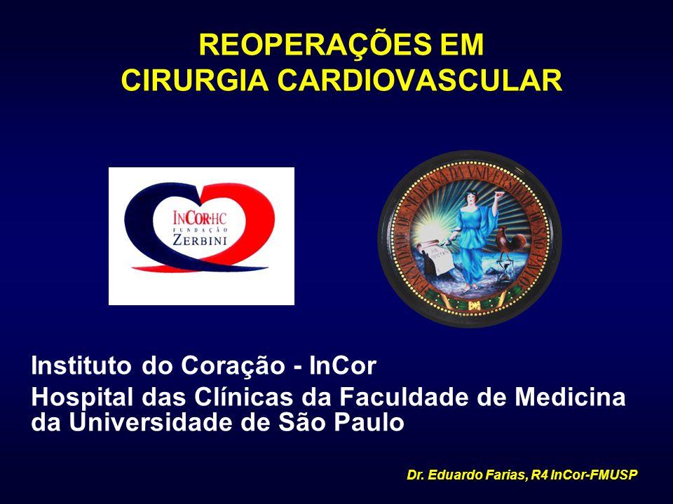 REOPERAÇÕES EM CIRURGIA CARDIOVASCULAR Instituto do Coração - InCor Hospital das Clínicas da Faculdade de Medicina da Universidade de São Paulo Dr. Ed