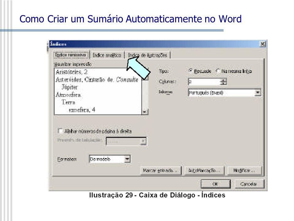 Como Criar um Sumário Automaticamente no Word