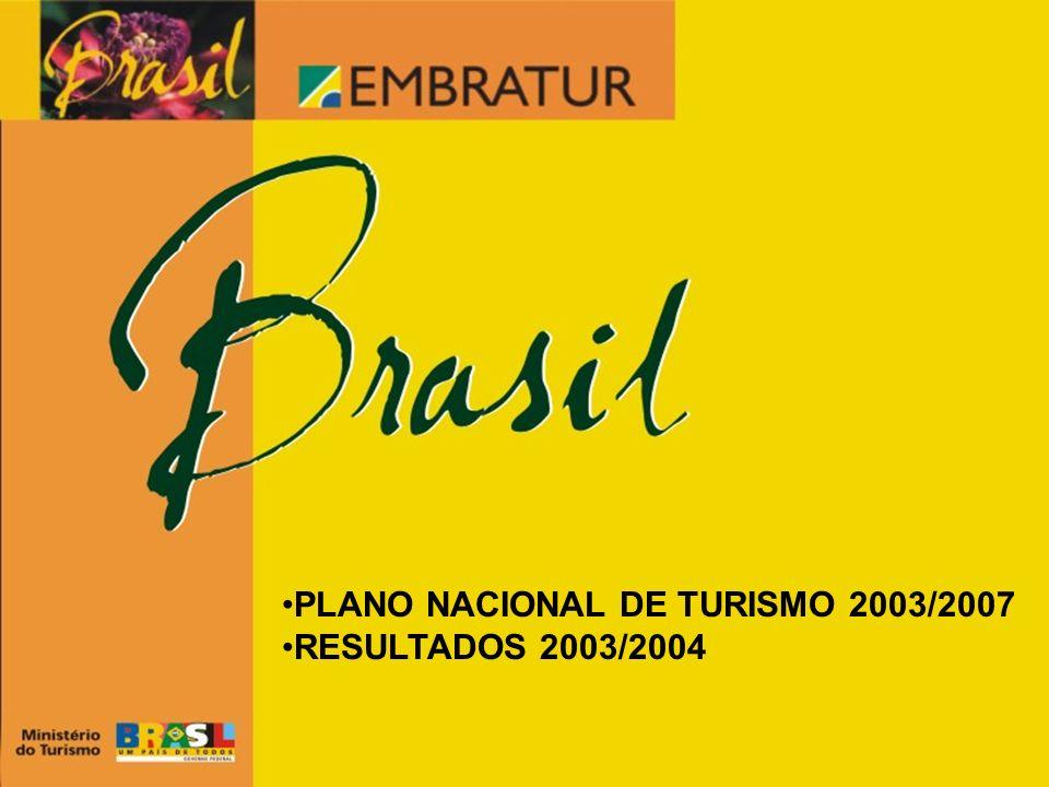 PLANO NACIONAL DE TURISMO 2003/2007 RESULTADOS 2003/2004