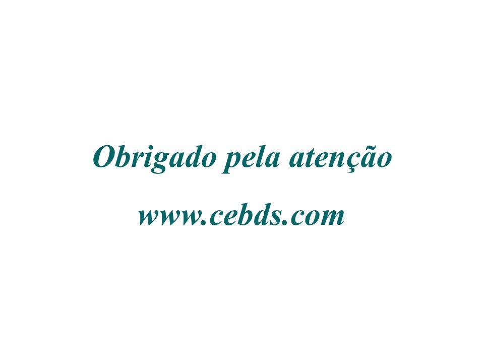 Obrigado pela atenção www.cebds.com