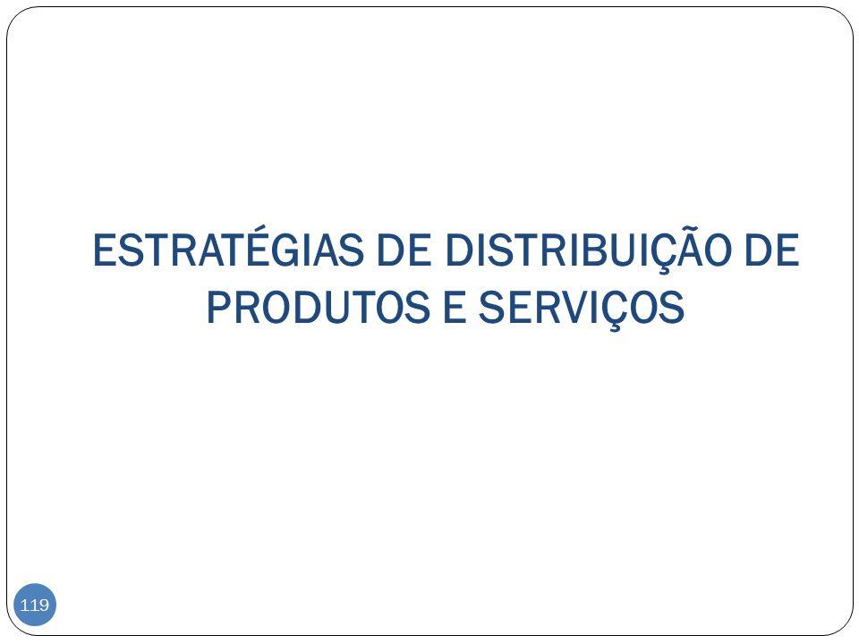 ESTRATÉGIAS DE DISTRIBUIÇÃO DE PRODUTOS E SERVIÇOS 119
