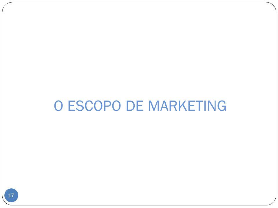O ESCOPO DE MARKETING 17