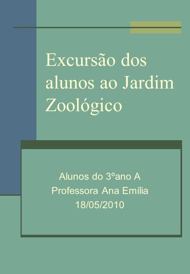 Excursão dos alunos ao Jardim Zoológico Alunos do 3ºano A Professora Ana Emília 18/05/2010