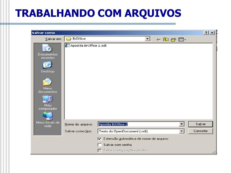 Se o arquivo ainda não foi salvo, o comando que ficará disponível é Salvar Como.