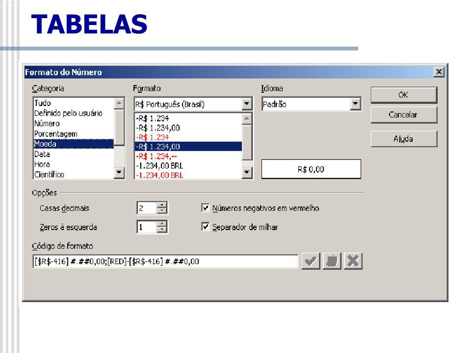 Tabela/Classificar Este comando faz a classificação alfabética e numérica dos parágrafos selecionados.