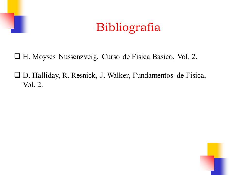 Bibliografia H. Moysés Nussenzveig, Curso de Física Básico, Vol. 2. D. Halliday, R. Resnick, J. Walker, Fundamentos de Física, Vol. 2.