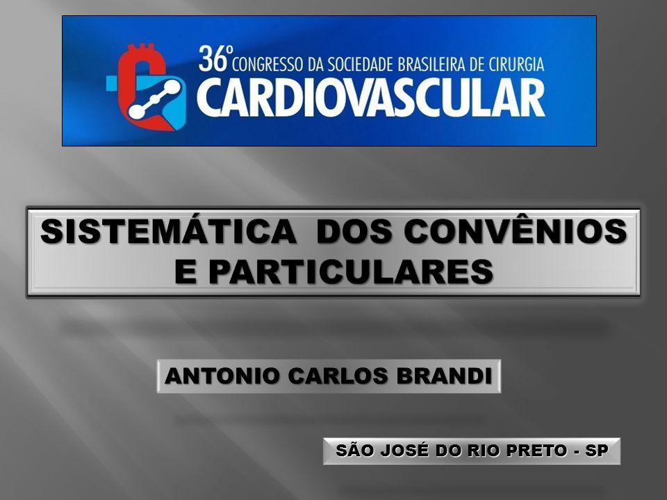 ANTONIO CARLOS BRANDI SÃO JOSÉ DO RIO PRETO - SP SÃO JOSÉ DO RIO PRETO - SP